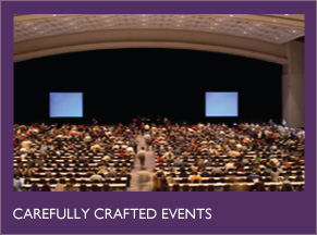 Carefully crafted events.